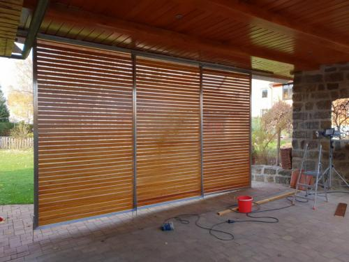 Sichtschutz Schiebeelement-Füllung HolzGarage