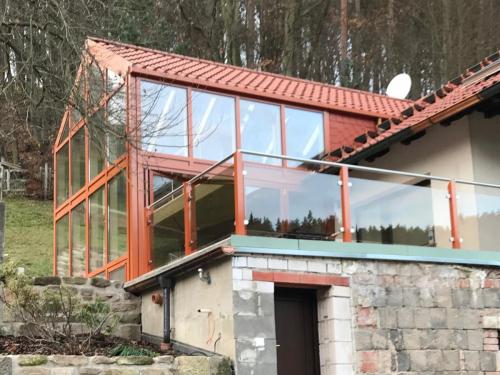 Terrassenbrüstung Alu-Glas-Edelstahl