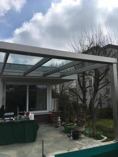 Terrassenüberdachung Edelstahl-Glas