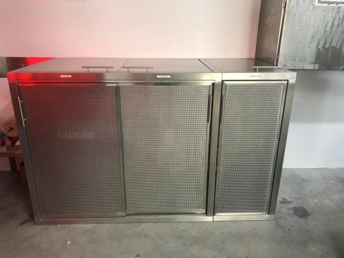 Wertstoffbox Toplader-Schiebe-und Schwingtür Lochblech3