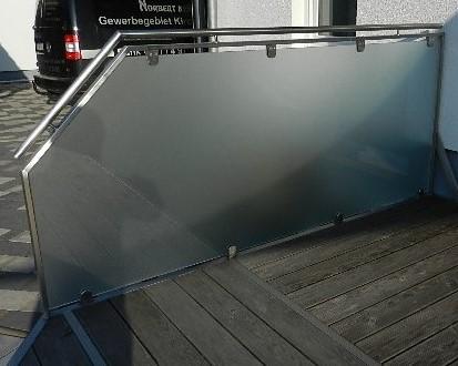 Windschutz Edelstahl-Glas